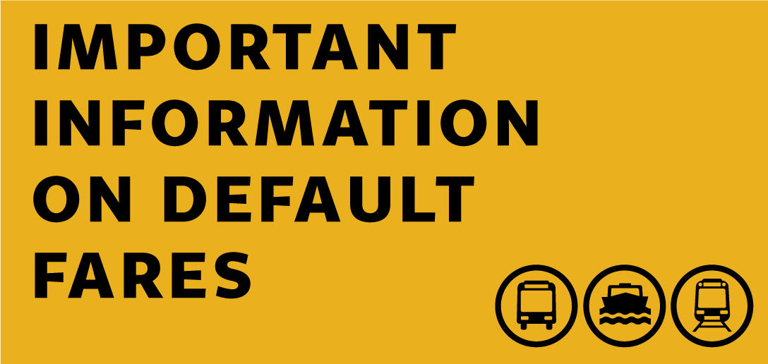 Have you been charged a default fare?