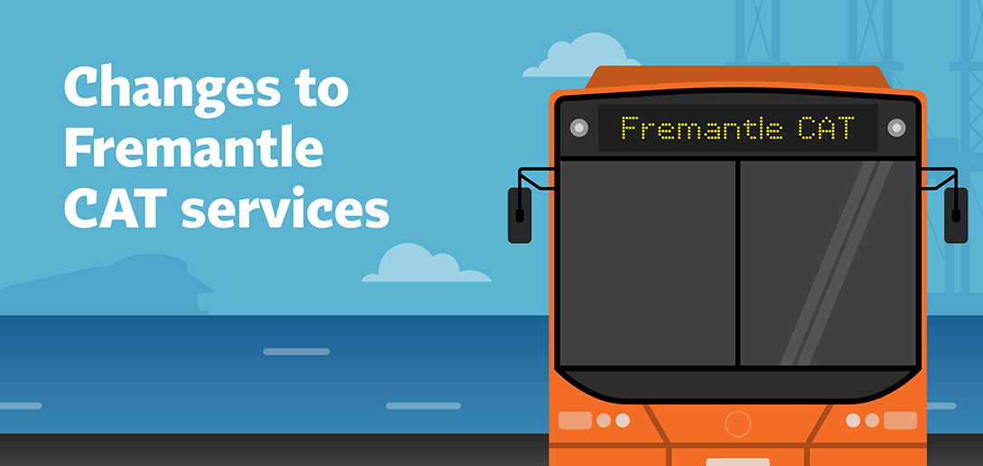Fremantle CAT services will change from Sunday 16 August