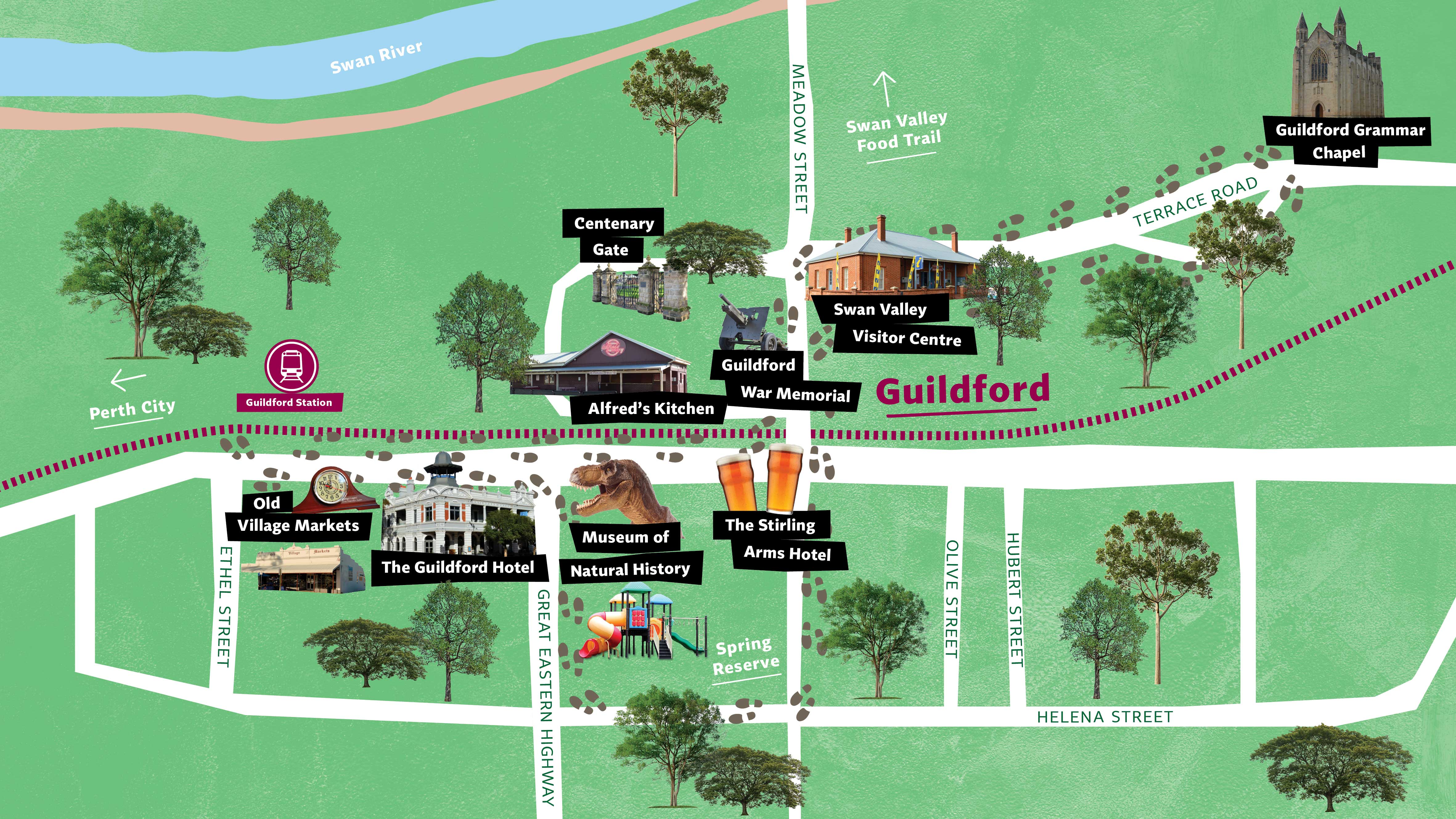 Guildford trails map